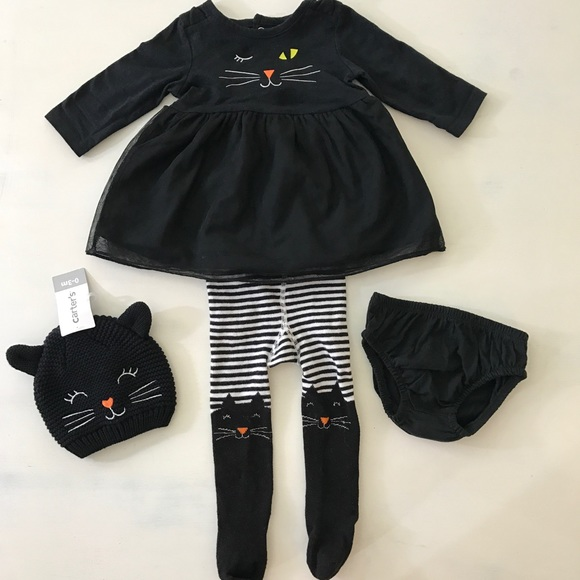 6a3e1adb9 Carter's Matching Sets | Carters Baby Girl Cotton Knit Dress 4 Pcs ...